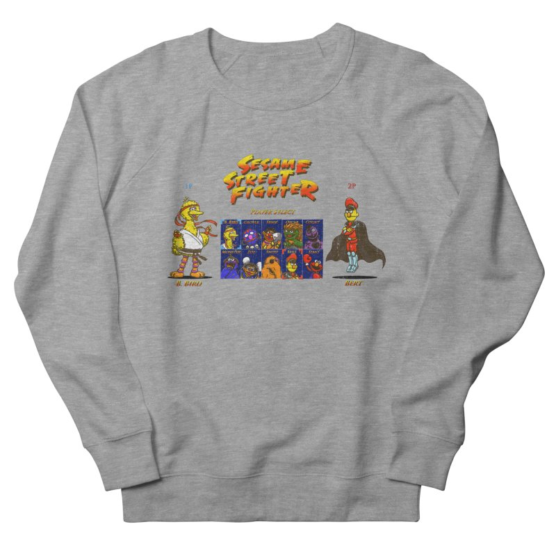Sesame Street Fighter Men's French Terry Sweatshirt by Den of the Wolf