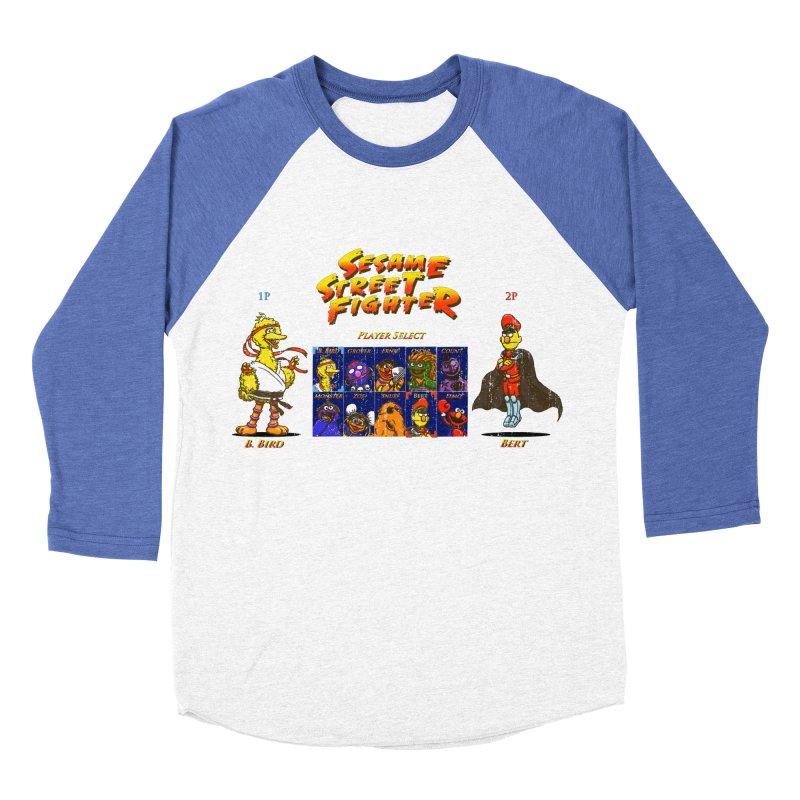 Sesame Street Fighter Women's Baseball Triblend Longsleeve T-Shirt by Den of the Wolf