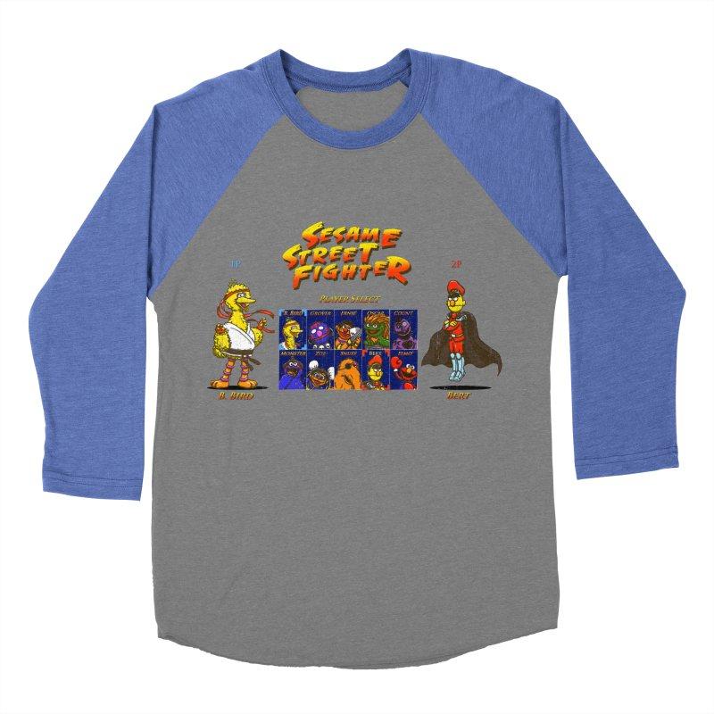 Sesame Street Fighter Men's Baseball Triblend T-Shirt by Den of the Wolf