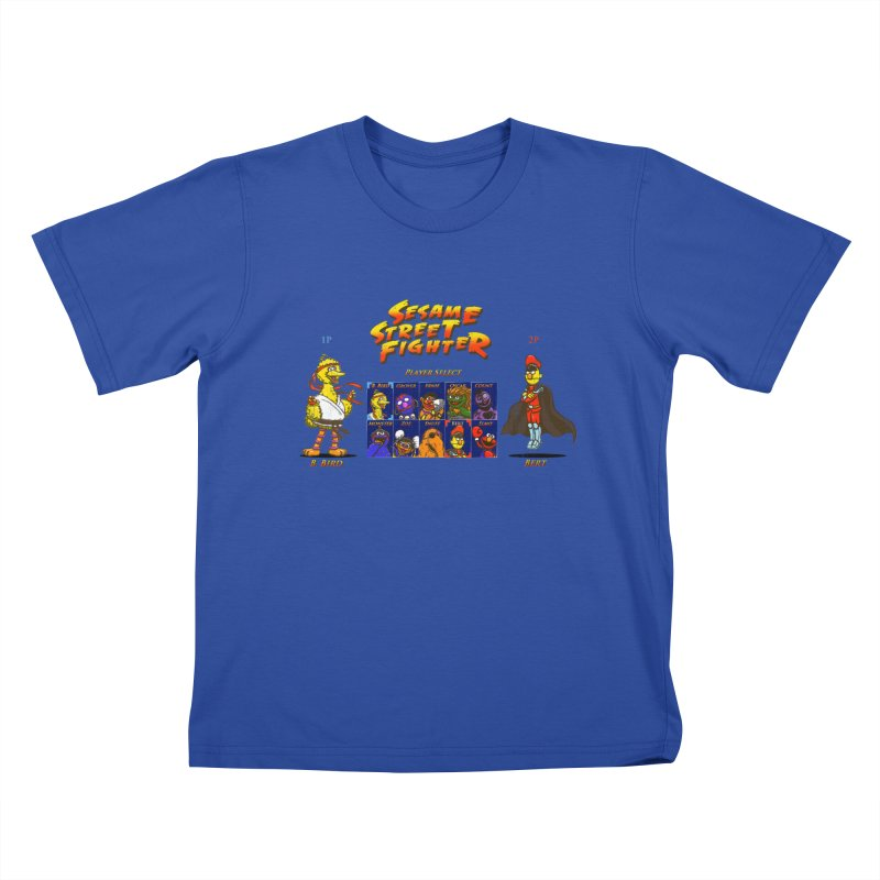 Sesame Street Fighter Kids T-shirt by Den of the Wolf
