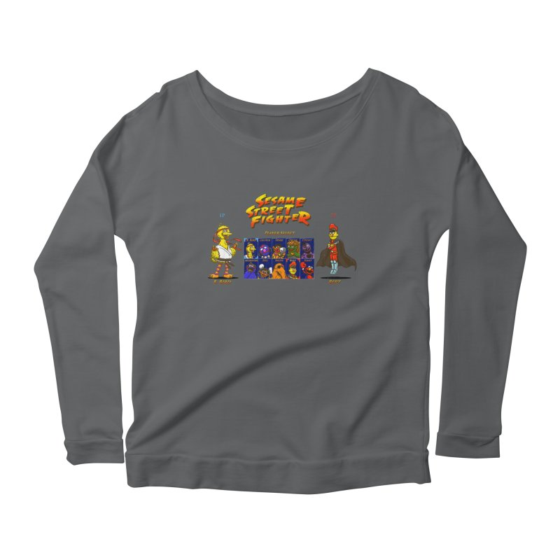 Sesame Street Fighter Women's Longsleeve Scoopneck  by Den of the Wolf