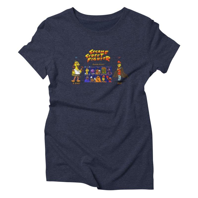 Sesame Street Fighter Women's Triblend T-Shirt by Den of the Wolf