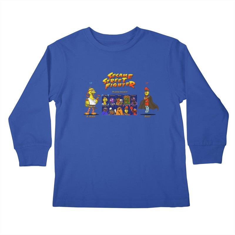Sesame Street Fighter Kids Longsleeve T-Shirt by NicholasWolf's Artist Shop