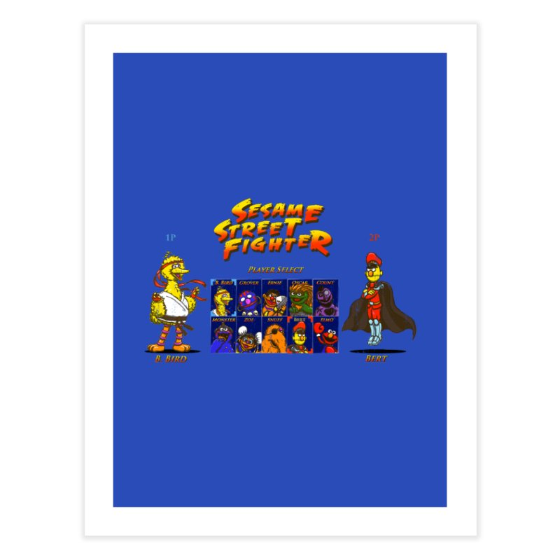 Sesame Street Fighter Home Fine Art Print by Den of the Wolf