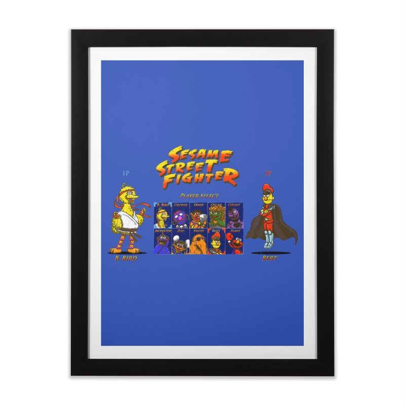 Sesame Street Fighter Home Framed Fine Art Print by Den of the Wolf