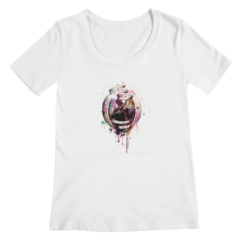 Play That Tune Like It's The Last Time You'll Hear It Women's Scoopneck by NicholasWolf's Artist Shop