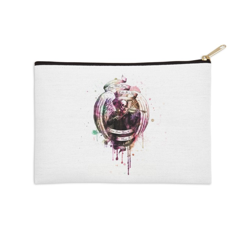 Play That Tune Like It's The Last Time You'll Hear It Accessories Zip Pouch by Den of the Wolf