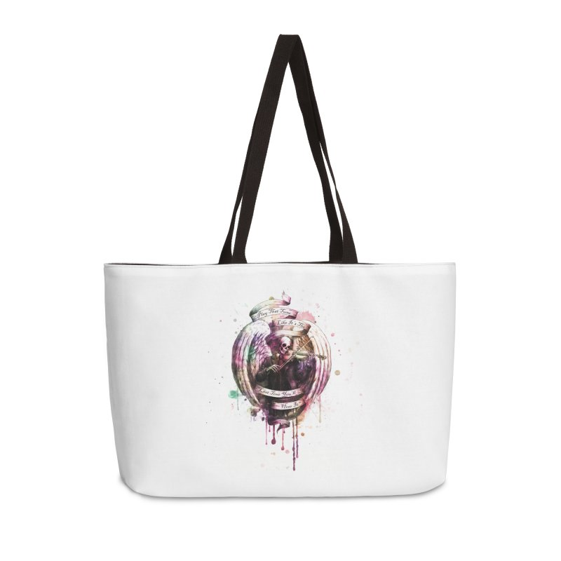 Play That Tune Like It's The Last Time You'll Hear It Accessories Weekender Bag Bag by Den of the Wolf
