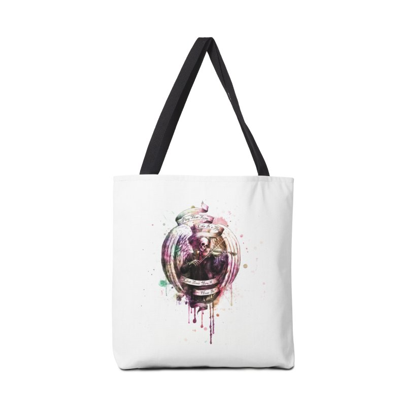 Play That Tune Like It's The Last Time You'll Hear It Accessories Tote Bag Bag by Den of the Wolf