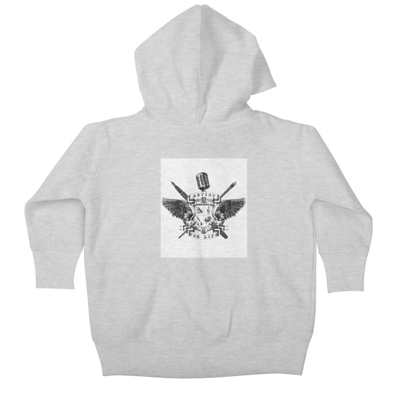 Artist for Life Kids Baby Zip-Up Hoody by Den of the Wolf
