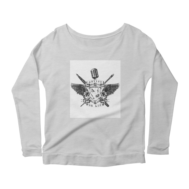 Artist for Life Women's Longsleeve Scoopneck  by Den of the Wolf