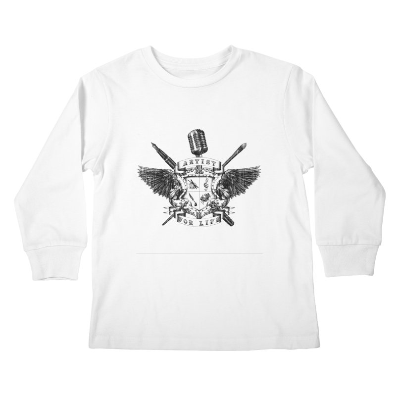 Artist for Life Kids Longsleeve T-Shirt by Den of the Wolf