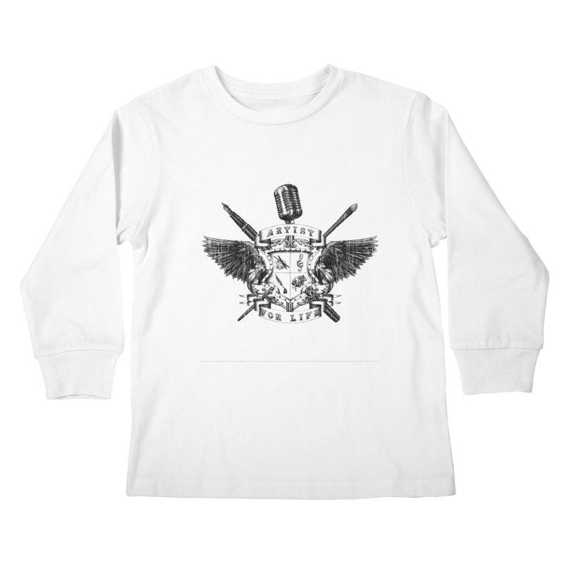 Artist for Life Kids Longsleeve T-Shirt by NicholasWolf's Artist Shop
