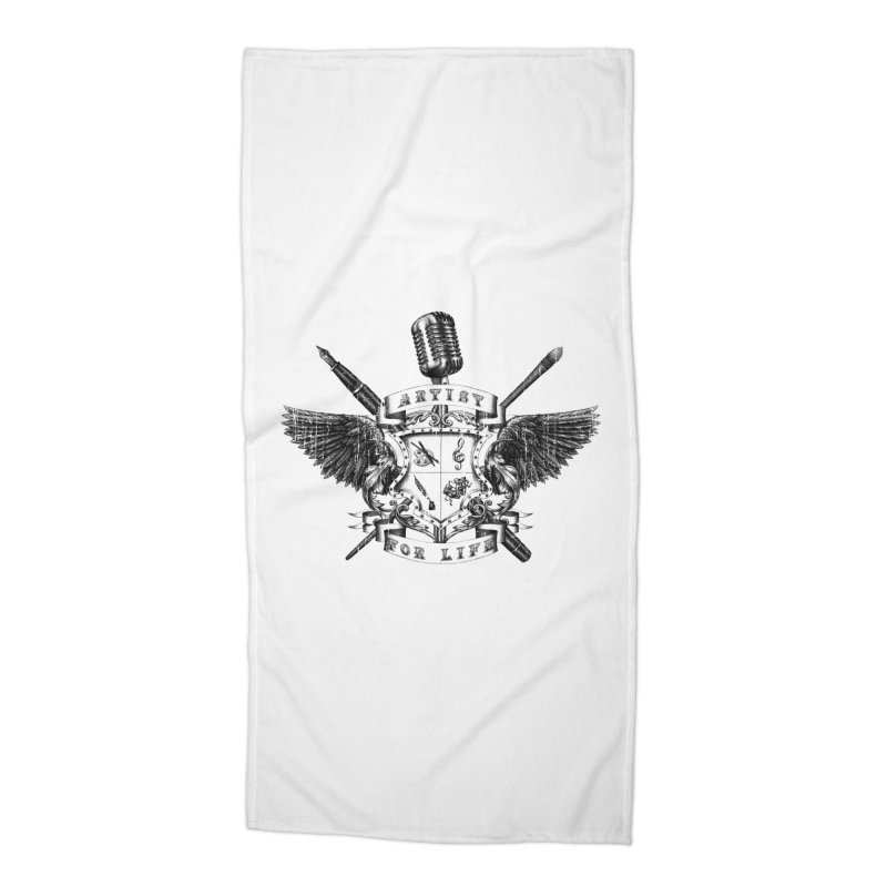 Artist for Life Accessories Beach Towel by NicholasWolf's Artist Shop