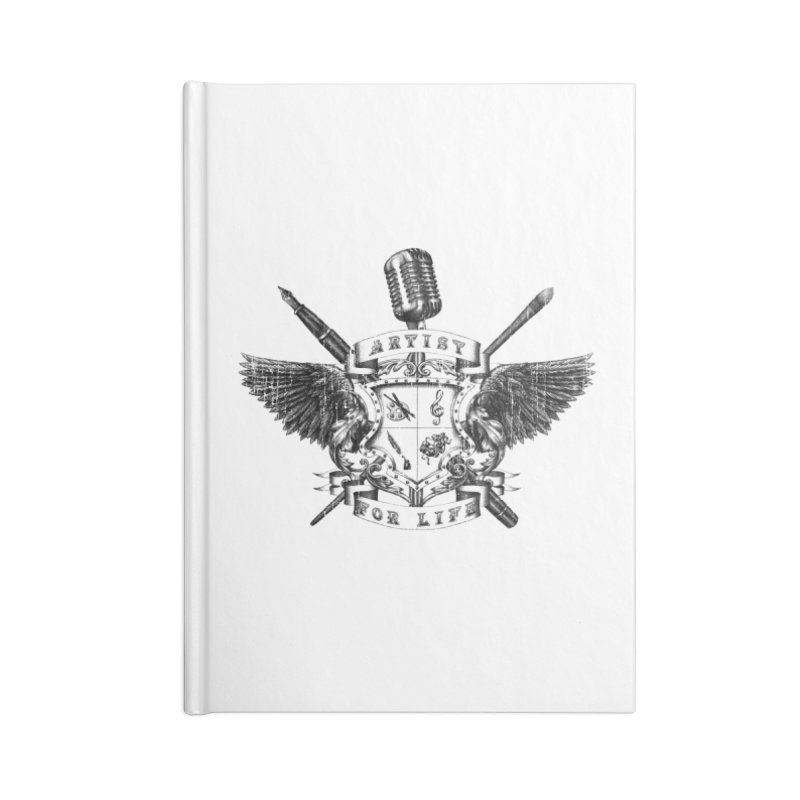 Artist for Life Accessories Lined Journal Notebook by Den of the Wolf