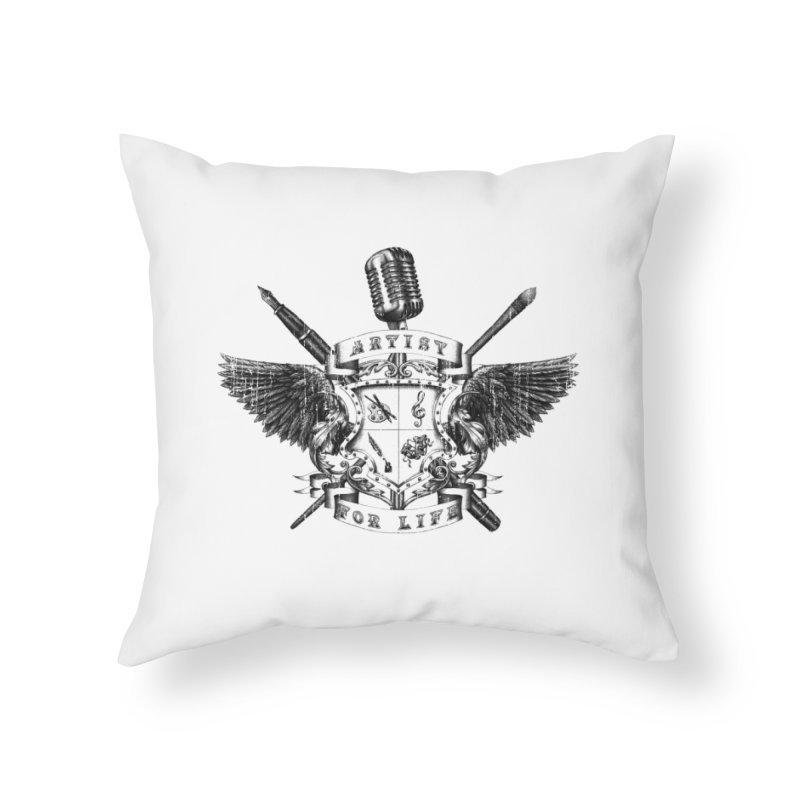 Artist for Life Home Throw Pillow by Den of the Wolf
