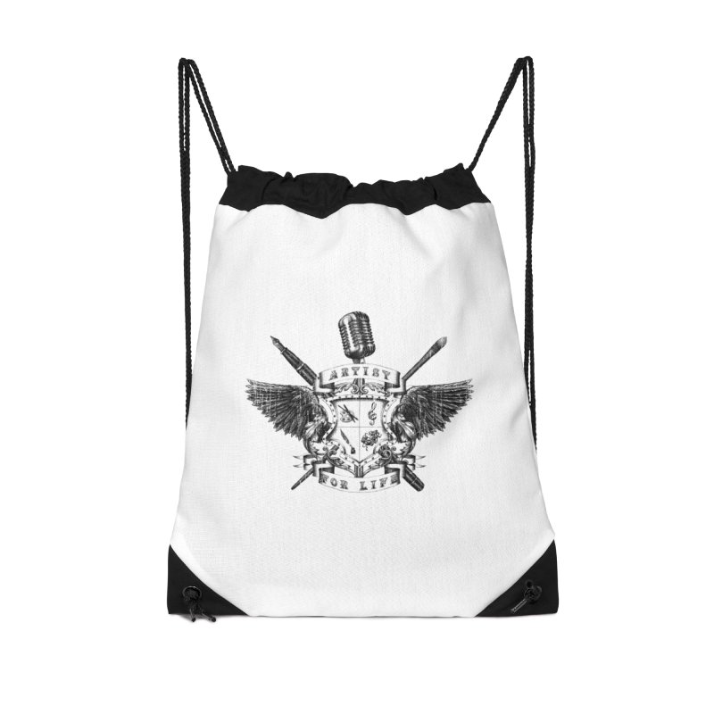 Artist for Life Accessories Drawstring Bag Bag by Den of the Wolf