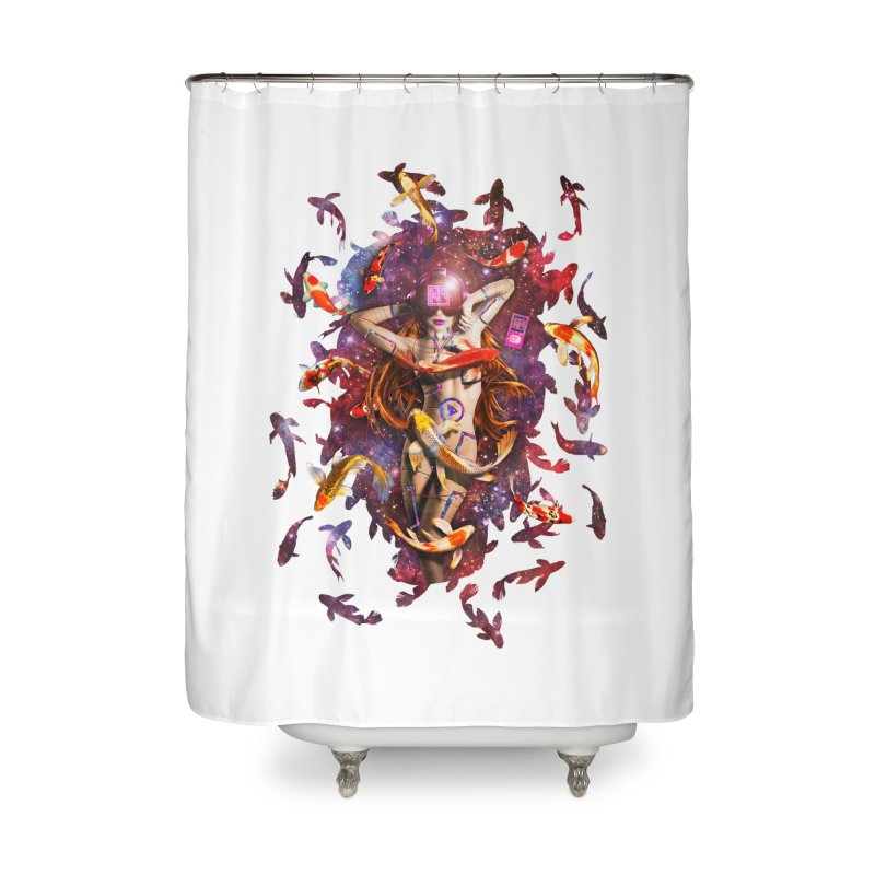 Venus 2.0 Home Shower Curtain by Den of the Wolf