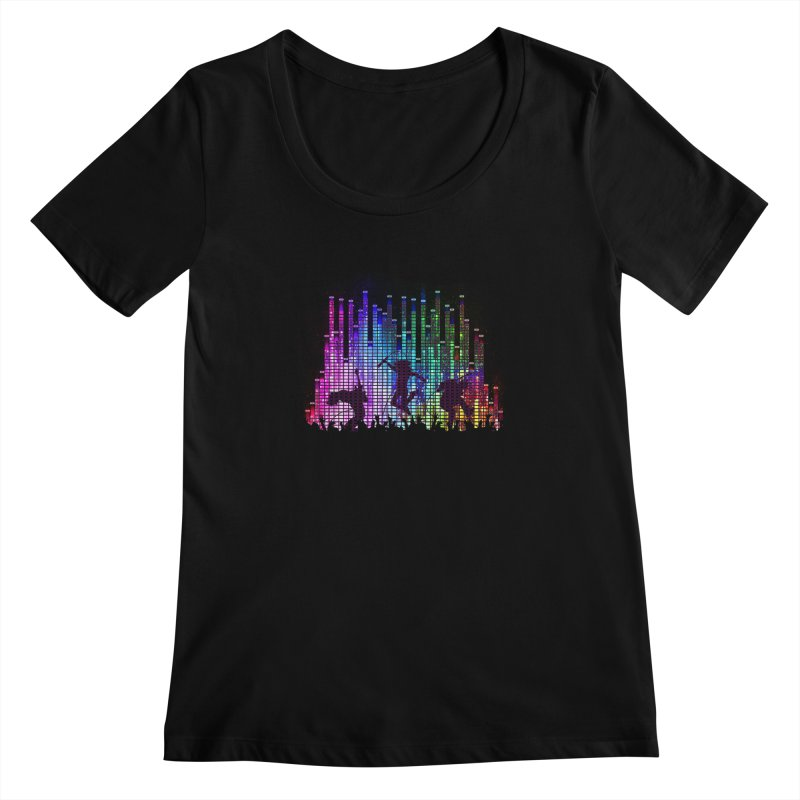 Up to 11 Women's Scoopneck by Den of the Wolf