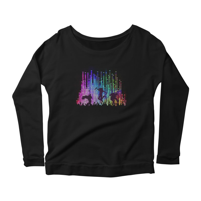 Up to 11 Women's Longsleeve Scoopneck  by Den of the Wolf