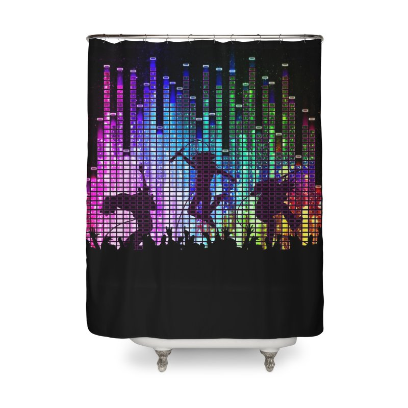 Up to 11 Home Shower Curtain by Den of the Wolf
