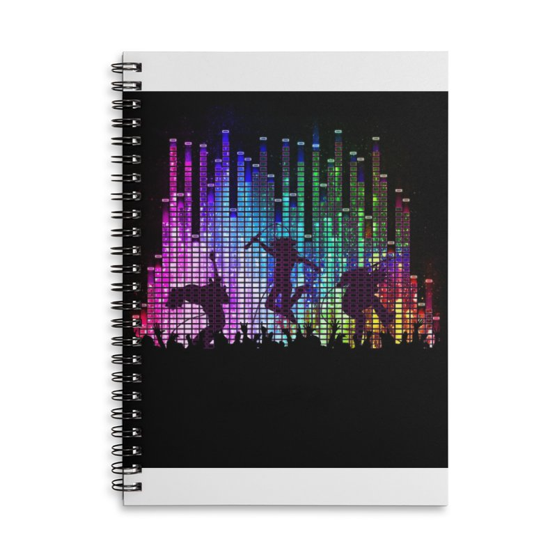 Up to 11 Accessories Lined Spiral Notebook by Den of the Wolf