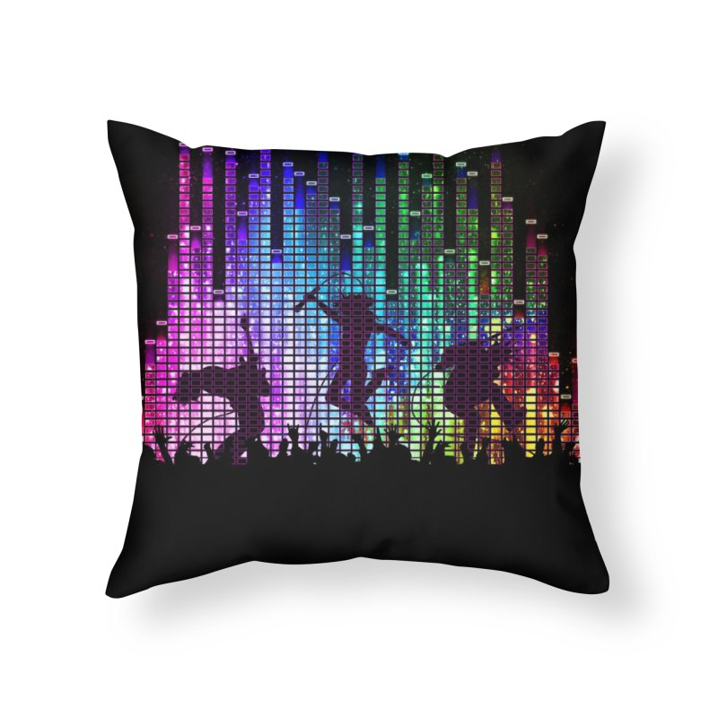 Up to 11 Home Throw Pillow by Den of the Wolf