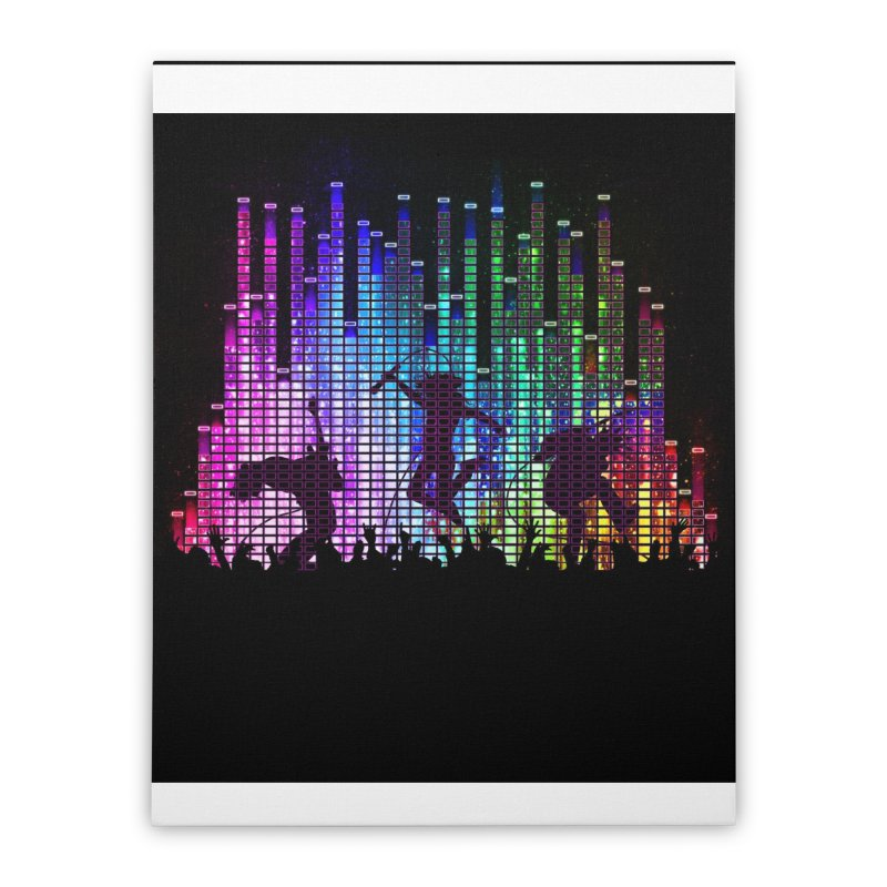 Up to 11 Home Stretched Canvas by Den of the Wolf