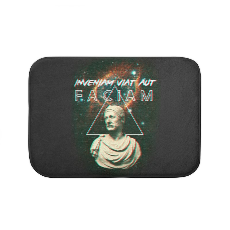 INVENIAM VIAM AUT FACIAM Home Bath Mat by Den of the Wolf