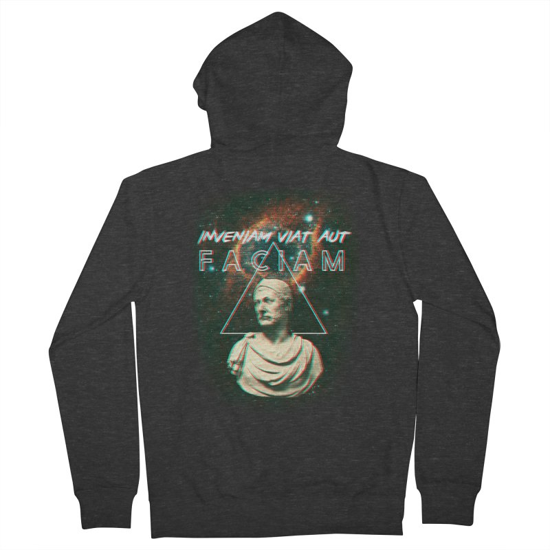 INVENIAM VIAM AUT FACIAM Men's Zip-Up Hoody by Den of the Wolf