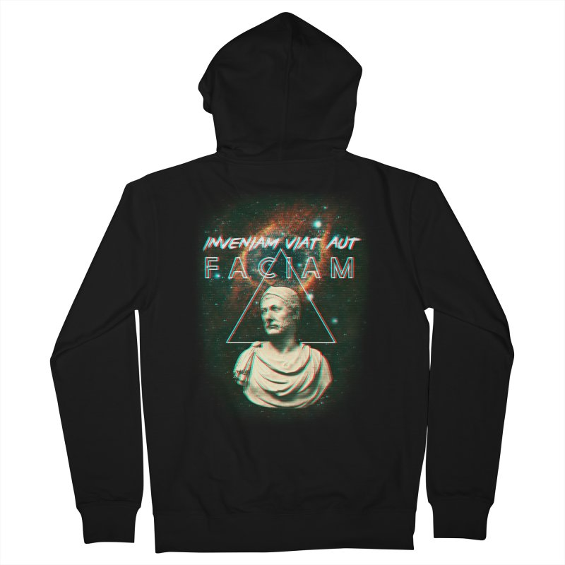 INVENIAM VIAM AUT FACIAM Men's French Terry Zip-Up Hoody by Den of the Wolf
