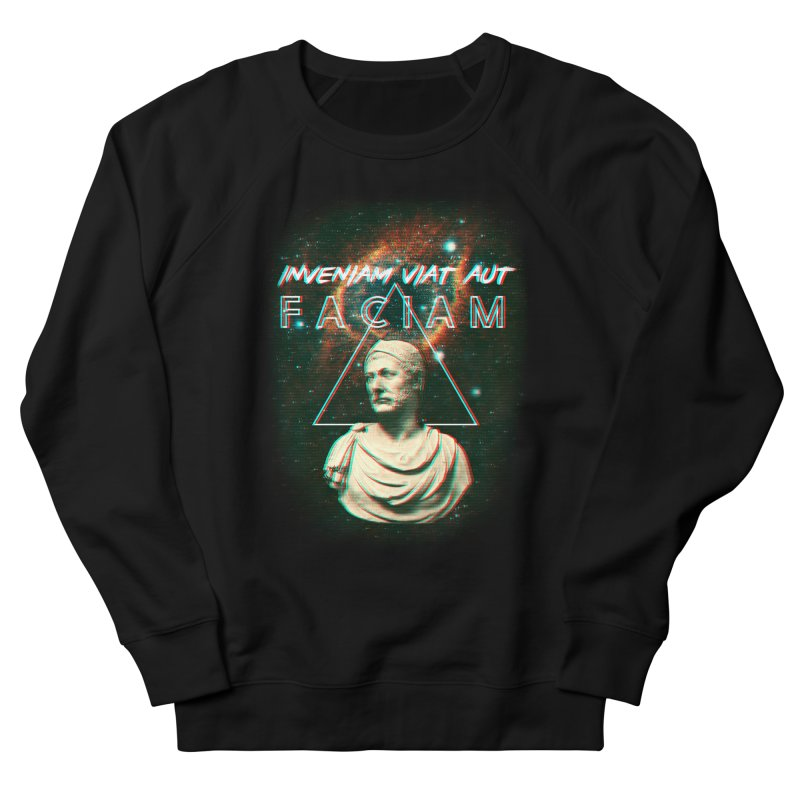 INVENIAM VIAM AUT FACIAM Men's French Terry Sweatshirt by Den of the Wolf