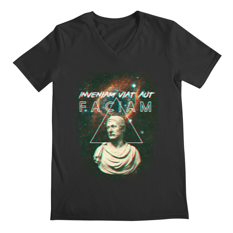 INVENIAM VIAM AUT FACIAM Men's Regular V-Neck by Den of the Wolf