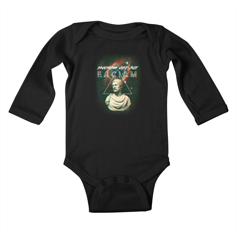 INVENIAM VIAM AUT FACIAM Kids Baby Longsleeve Bodysuit by Den of the Wolf