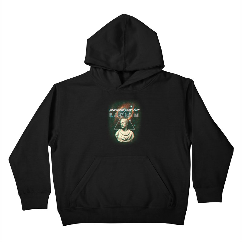 INVENIAM VIAM AUT FACIAM Kids Pullover Hoody by Den of the Wolf