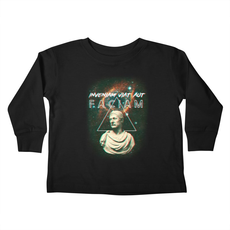 INVENIAM VIAM AUT FACIAM Kids Toddler Longsleeve T-Shirt by Den of the Wolf