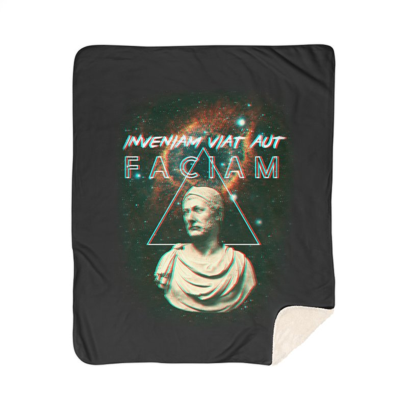 INVENIAM VIAM AUT FACIAM Home Sherpa Blanket Blanket by Den of the Wolf