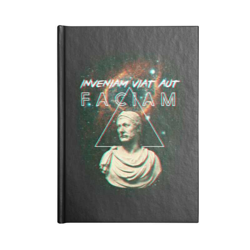 INVENIAM VIAM AUT FACIAM Accessories Lined Journal Notebook by Den of the Wolf