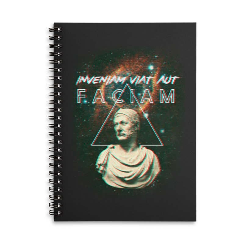 INVENIAM VIAM AUT FACIAM Accessories Lined Spiral Notebook by Den of the Wolf
