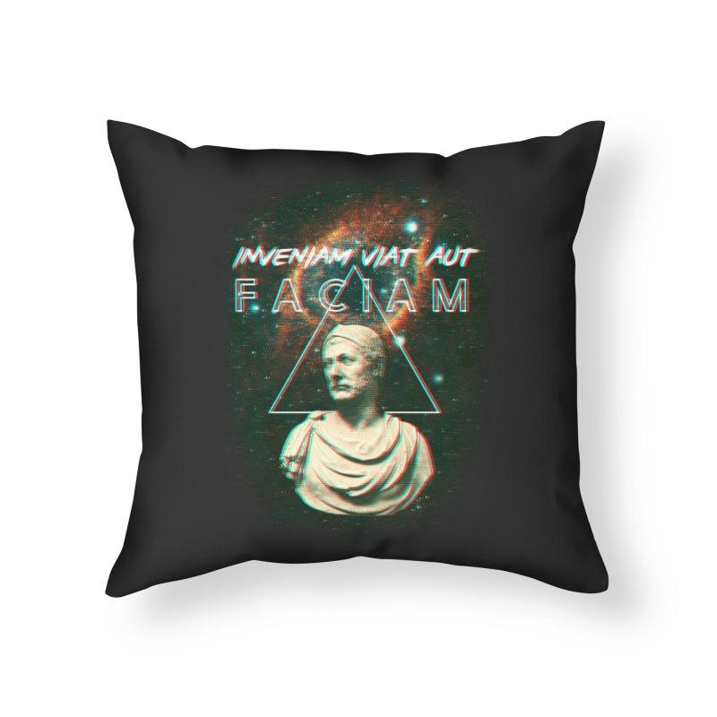 INVENIAM VIAM AUT FACIAM Home Throw Pillow by Den of the Wolf