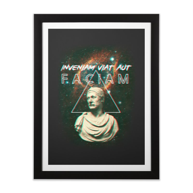 INVENIAM VIAM AUT FACIAM Home Framed Fine Art Print by Den of the Wolf