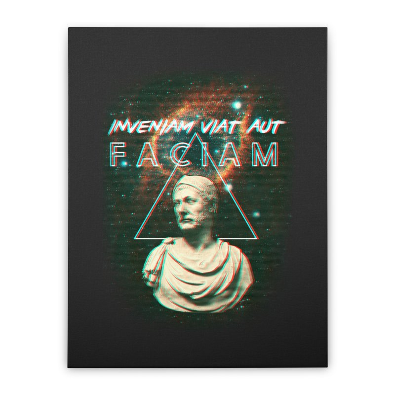 INVENIAM VIAM AUT FACIAM Home Stretched Canvas by Den of the Wolf