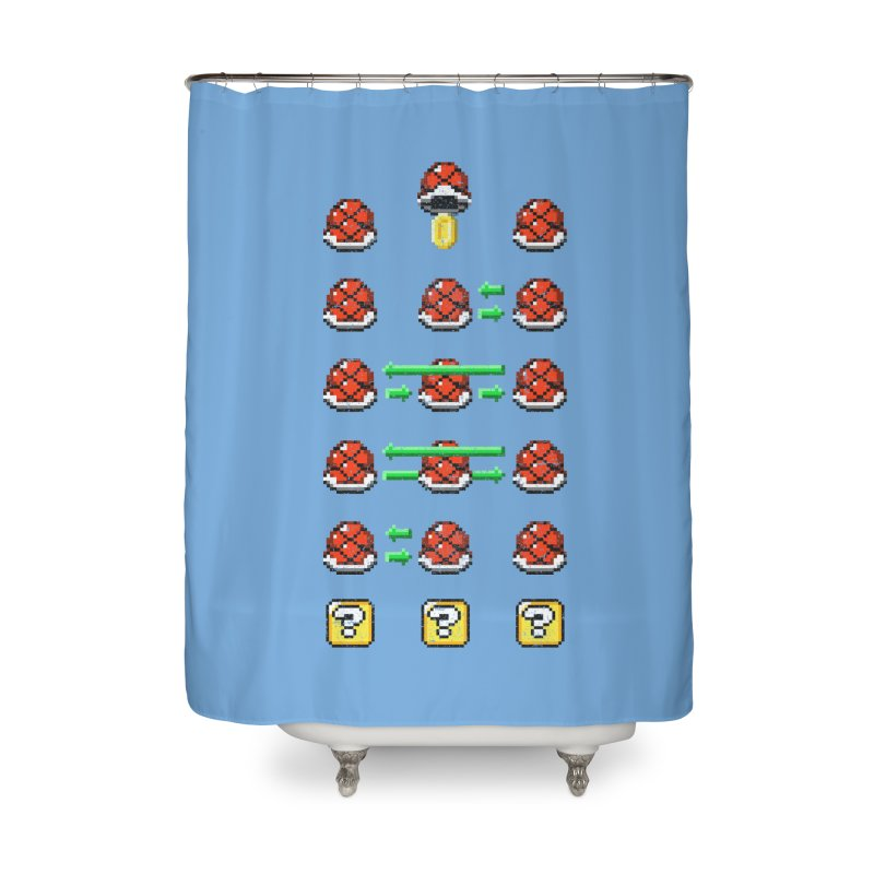 Shell Game Home Shower Curtain by Den of the Wolf