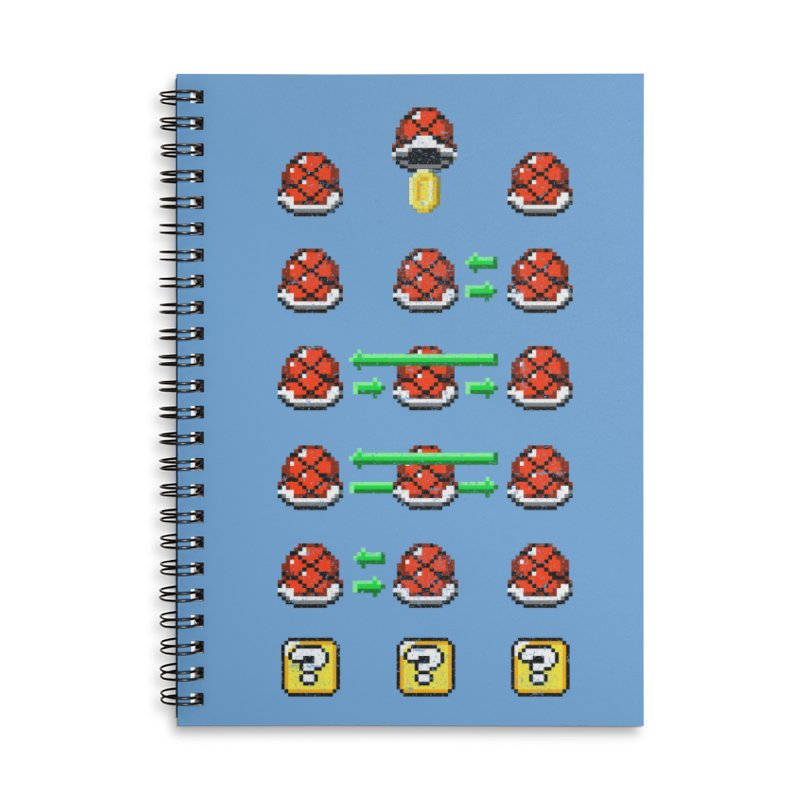 Shell Game Accessories Lined Spiral Notebook by Den of the Wolf