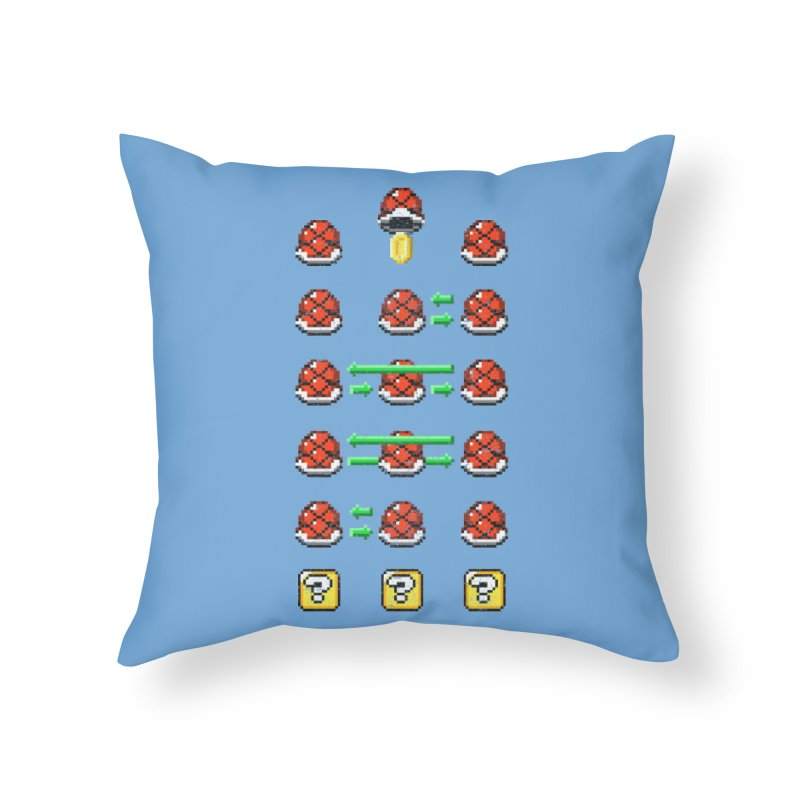 Shell Game Home Throw Pillow by Den of the Wolf