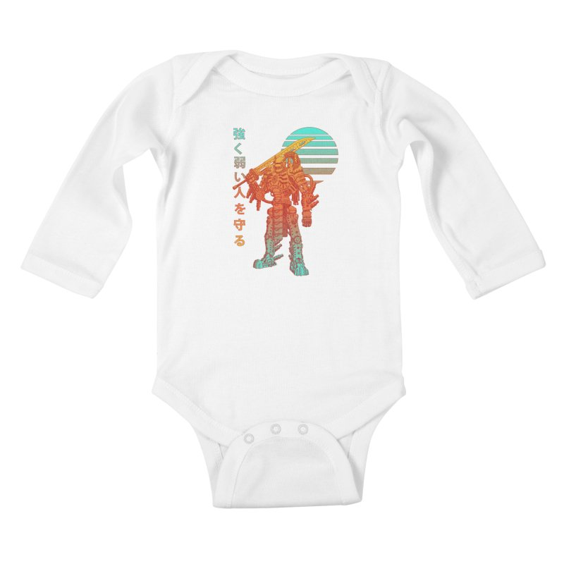 The Strong Protect The Weak Kids Baby Longsleeve Bodysuit by Den of the Wolf