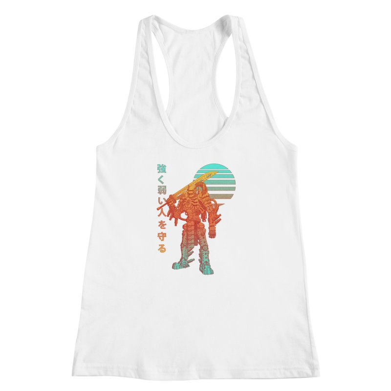 The Strong Protect The Weak Women's Racerback Tank by Den of the Wolf