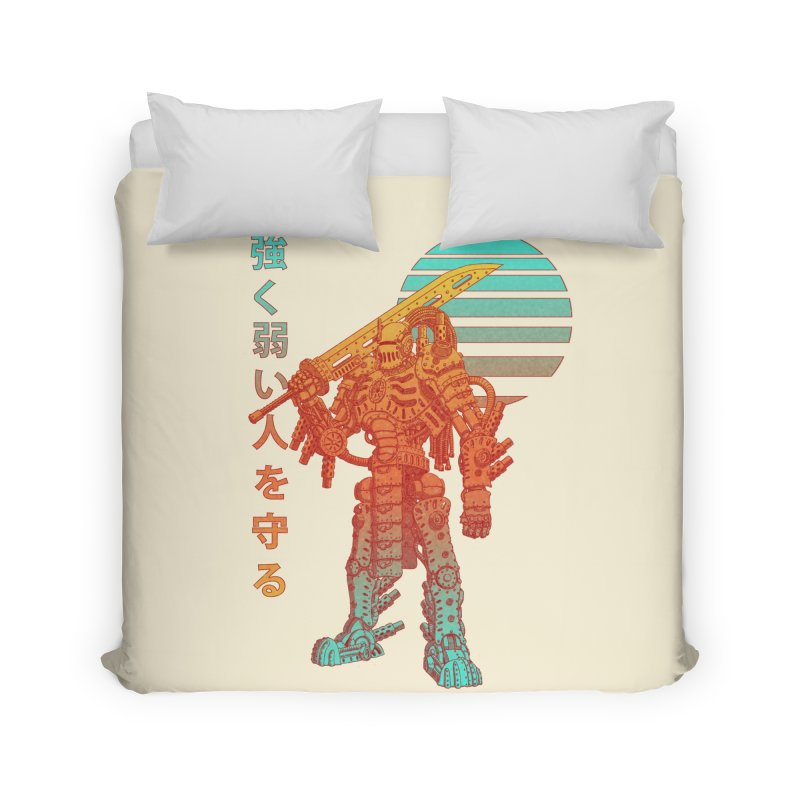 The Strong Protect The Weak Home Duvet by Den of the Wolf