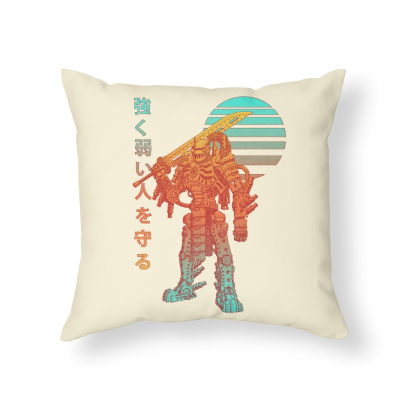 The Strong Protect The Weak Home Throw Pillow by Den of the Wolf