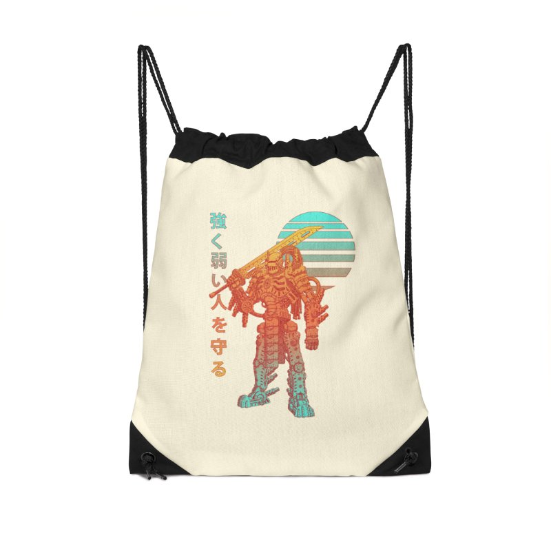 The Strong Protect The Weak Accessories Drawstring Bag Bag by Den of the Wolf